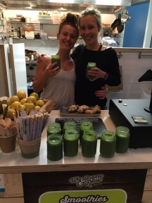 Serving Juices at Wholesome And Raw, Spinningfields