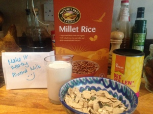 Millet Rice and Almond Milk