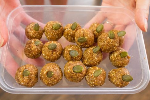 Learn how to make Gingerbread energy balls .