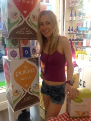 Come and see my raw food talk and demo at health food stores - or hire me for yours!