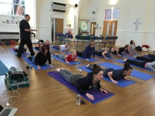 Hannah and Mick's Real Food and Yoga workshop